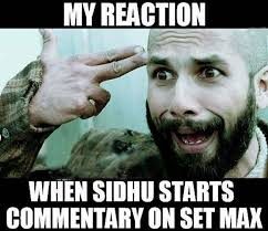 When Sidhu Starts Commentary On Set Max
