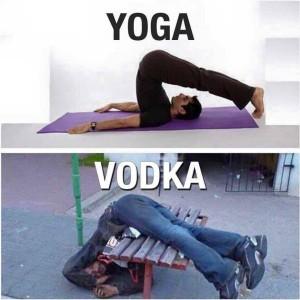 Yoga vs Vodka Funny Picture Comment