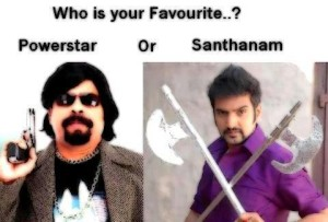 Power Star vs Santhanam Photo Pic
