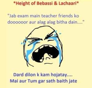 Height Of Bebassi & Lachaari Funny Pic