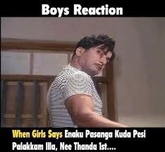 Boys Reaction Comment Pic