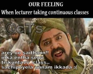 Our Feeling: When Lecturer Taking Continuous Classes