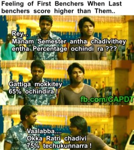 Feeling Of First Benchers When Last Benchers Score Higher Than Them