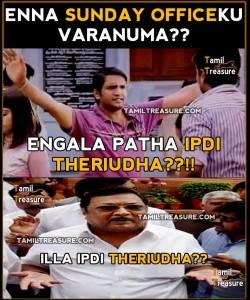 Enna Sunday Officeku Varanuma???-Santhanam