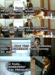 Oka Abbai Happy Ga Unnadantey.... Funny Dialogue