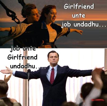Girl Friend & Job Funny Comment Photo