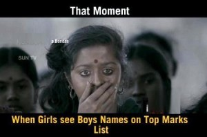 When Girls See Boys Names On Top Marks List