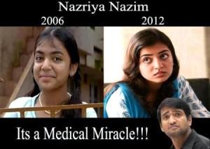 Nazriya Nazim 2006 vs 2012
