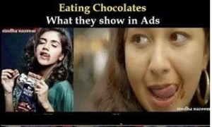 Eating Chocolates What They Show In Ads