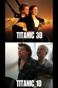 Titanic 3D vs Titanic 1D Photo Pic