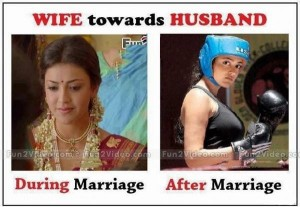 Wife Before After Marriage