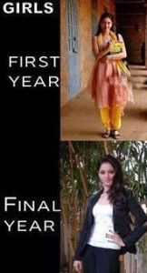 Girls First Year vs Final Year