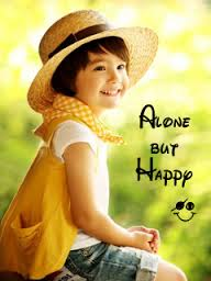 Alone But Happy Cute Baby Pic