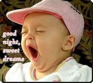 Good Night Sweet Dreams Cute Baby