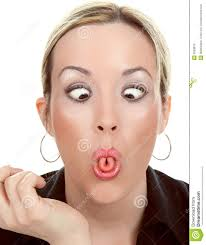 Woman Make A Funny Face
