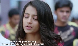 Trisha Funny Photo Comment Pic