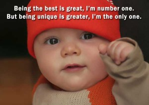 Baby Quotes - Being The Best Is Great I'm Number One