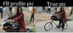 Fb Profile Pic vs True Pic Funny Photo Pic