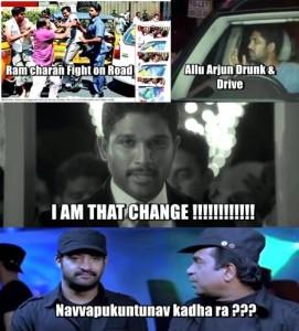 Allu arjun Tollywood joke just for fun 'I am that change