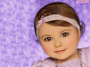 Pretty Cute Baby Girl Nice Wallpaper