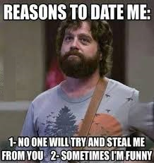 Reasons To Date Me Funny Photo Comment