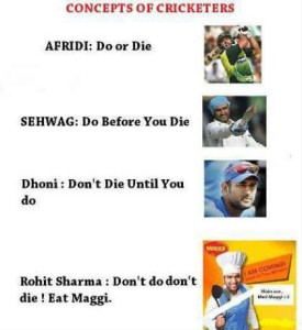 Concepts Of Cricketers Hindi Funny Pic