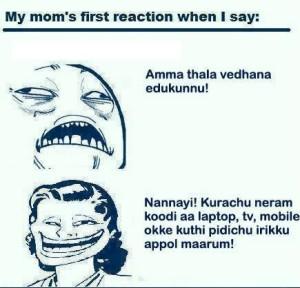 Mom's Reaction When I Say... Malayalam Funny