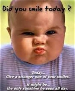 Did You Smile Today? Funny Baby Image