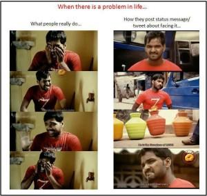 Reality vs Real life Funny Tamil Jokes Photos