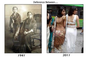 Deference Between Indian Girls 1941-2011