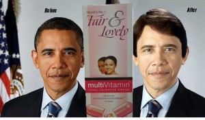 Obama Fair & Lovely Before vs After