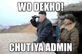 We Dekho ! Chutiya Admin Joke Picture