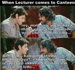 When Lecturer Comes To Canteen Funny Pic
