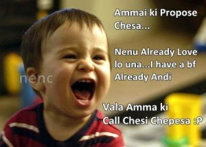 Proposed A Girl Telugu Funny Pic
