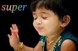 Little Girl Saying Super