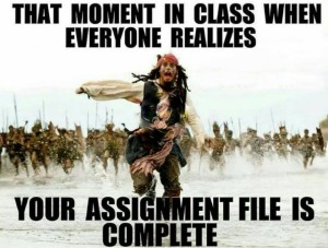 Assignment Funny Image In English