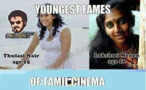 Youngest Fames Of Tamil Cinema
