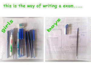 Writing Exam Boys Vs Girls