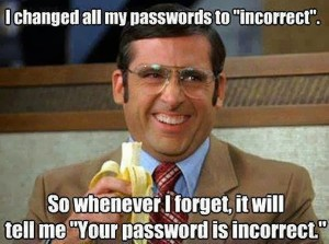 I Changed All My Passwords To Incorrrect
