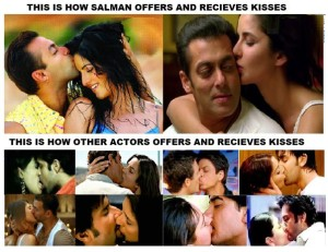 Different Kissing Scenes Of Salman Khan And Other Actors