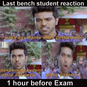 Last Bench Student Reaction 1 Hour Before Exam
