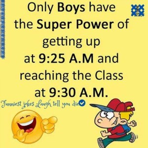 Boys Have The Super Power