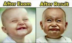 After Exam vs After Result Baby Reaction