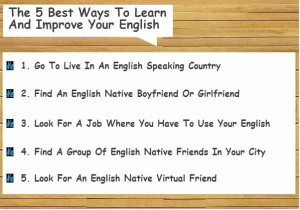 The 5 Best Ways To Learn And Improve Your English