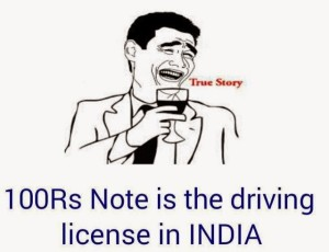 Indian Driving License : 100 Rs