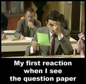 Funny Reaction To See Question Paper