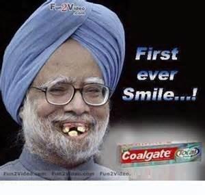 First Ever Smile...! -Manmohan Singh