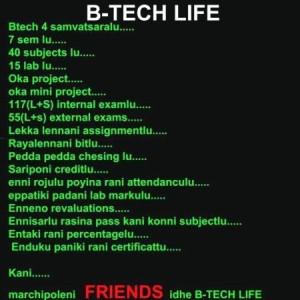 B-Tech Life Telugu Funny