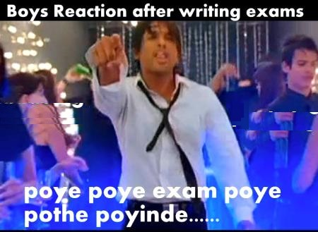 Boys Reaction After Writing Exams