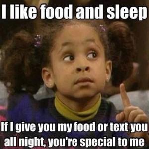 I Like Food And Sleep